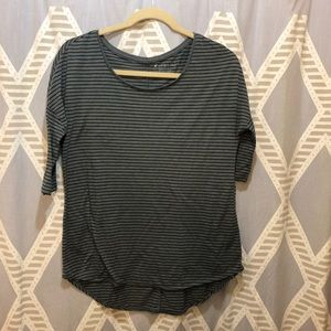 American Eagle Jegging T Striped Top